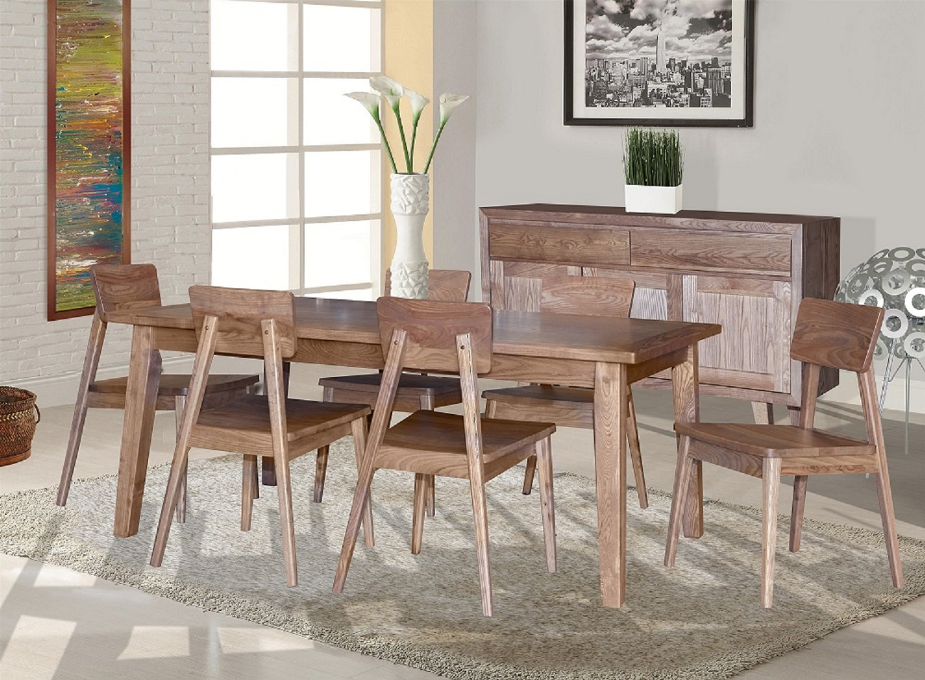 Ascension Dining with Timber Chair